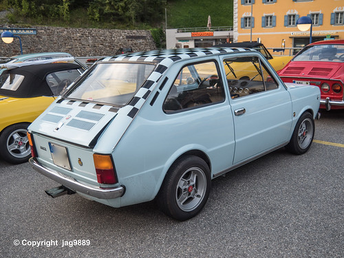 Classic Fiat Abarth Sports Car, Tiefencastel, Canton of Grisons, Switzerland