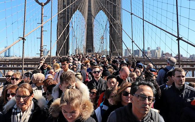 Embouteillage sur le pont Brooklyn
