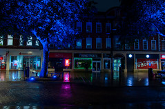 High Street shops in Bridge Street in Peterborough UK