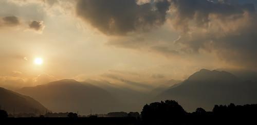 Morning light in the Alps