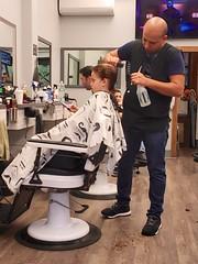Everett Getting A Haircut