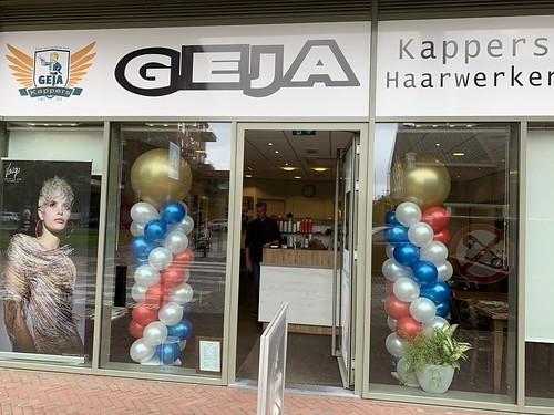 Ballonpilaar Breed Rond GEJA Kappers Vlaardingen
