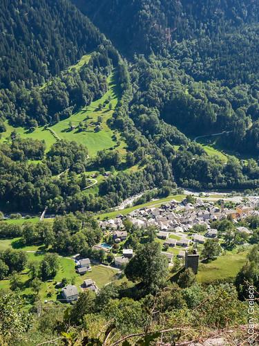 Castasegna von Motta Pita aus gesehen (Bergell, Graubünden) (12/09/2019 -10)