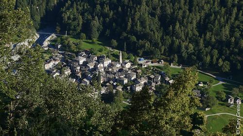 Bondo von Almagna bei Soglio aus gesehen (Bergell, Graubünden) (12/09/2019 -13)