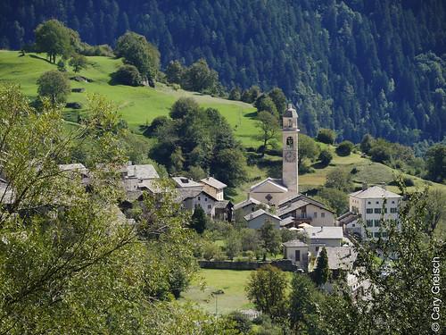 Soglio von Cüa d'Zura aus gesehen (Bergell, Graubünden) (12/09/2019 -02)