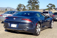 """Fisker """"Karma"""" electric car, on 580 in Oakland. Third one I'd seen in the wild IMG_3527"""