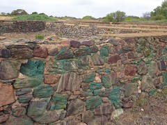 Moonta copper mine site. Copper rich stones used in 1865 to build the three Hughes Enginehouse water tanks.