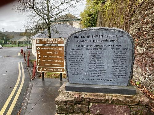 The United Irishmen Monument in Macroom
