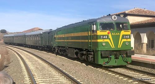 ALSA 319059, (carrying 3048), at Encinacorba on a PTG Railtour, 26 01 19