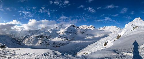 Winter Panorama Aletsch Gletscher