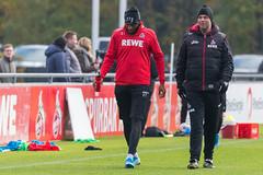 Anthony Modeste zusammen mit Torwarttrainer Andreas Menger
