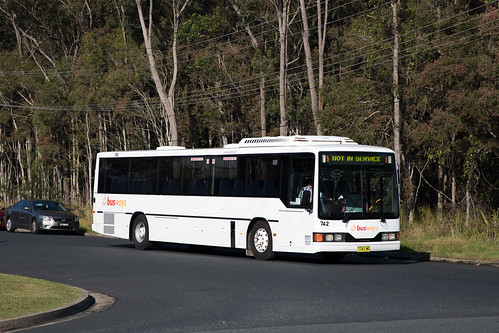 Busways Coffs Harbour (742) Mercedes Benz O405/CC 510 departing the depot for a morning run