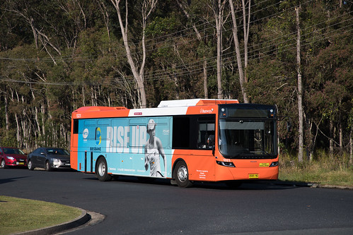Busways Coffs Harbour (1321) Volvo B8RLE/Volgren Optimus departs the depot to commence a morning run