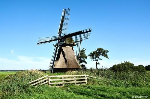 Niederlande / Provinz Friesland / Broeksterwoude / De Broekmolen / Baujahr: 1876