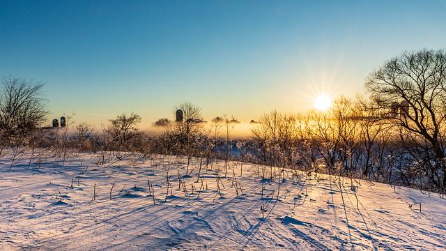 Matin d'hiver en Montérégie