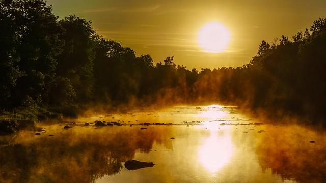 Lever de soleil sur la Bulstrode
