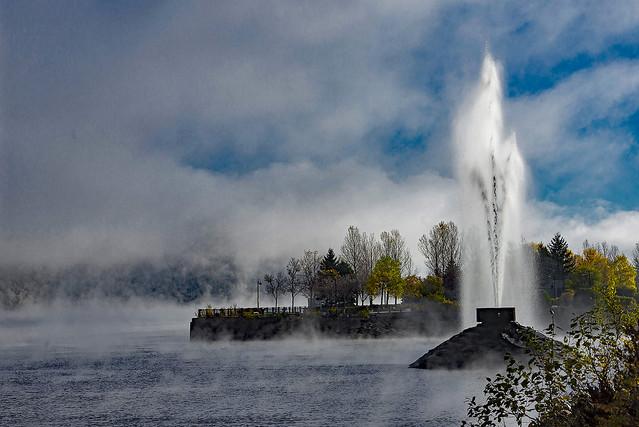 Brume et froid sur le Saguenay