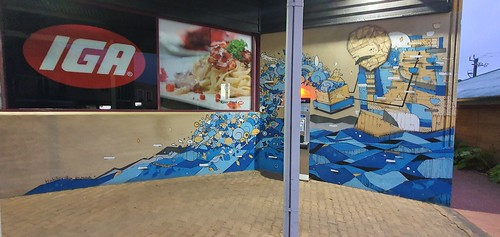 Mural by Kyle Hughes-Odgers & Ian Mutch, IGA at Margaret River