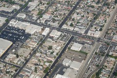 Florence Ave., high left to mid right. Compton Ave. upper left, Miramonte Blvd, Maie & Converse Ave's, bottom to top in center  DSC_0735