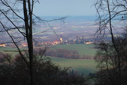 Hochkirch vom Löbauer Weg (Czornebohstraße) November 2019