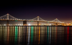 Oakland bay Bridge by night
