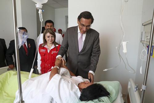 Presidente  Vizcarra participa en la ceremonia de la puesta en servicio del nuevo Hospital Regional de Moquegua.