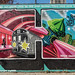 """Letter H"" Detail of ""Welcome to Harlem"" Mural (2019), Graffiti Hall of Fame, East Harlem, New York City"