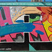 """""""Letter A"""" Detail of """"Welcome to Harlem"""" Mural (2019), Graffiti Hall of Fame, East Harlem, New York City"""