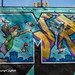 """""""Letter M"""" Detail of """"Welcome to Harlem"""" Mural (2019), Graffiti Hall of Fame, East Harlem, New York City"""