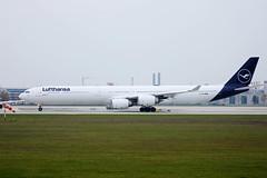 Lufthansa Airbus A340 in Munich Airport