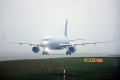 Aeroflot Russian Airlines at Munich Airport, mist