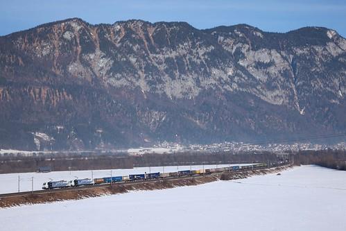 2 x Lokomotion 185 (185 662 + 185 663) + Güterzug/goederentrein/freight train  - Bichlwang