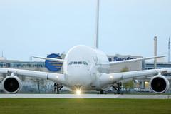 Lufthansa Airbus A380 in Munich Airport