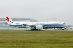 Air China airplane A350 taking off from Munich Airport