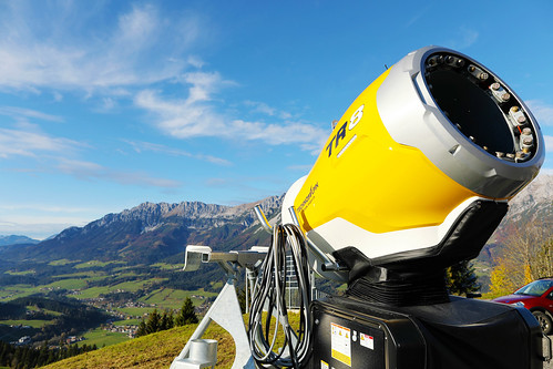 TR8 TechnoAlpin snow gun in Tyrol, Austria