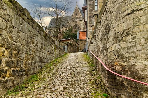 Alter Weg zum Dom in Halberstadt