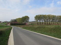 Thiepval: The D73 Pozières to Thiepval road (Somme)