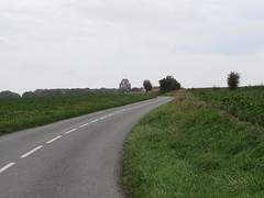 Authuille: The D151 Thiepval to Authuille road (Somme)