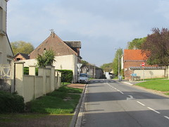 Pozières: The D73 road to Thiepval (Somme) - Photo of Avesnes-lès-Bapaume