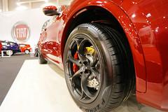 Pirelli tire on Alfa Romeo Stelvio, close-up view. Bucharest Auto Show 2019 SAB