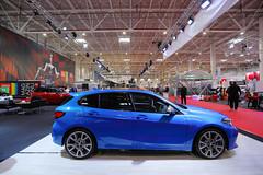 BMW 1 Series, side view at Bucharest Auto Show 2019 SAB