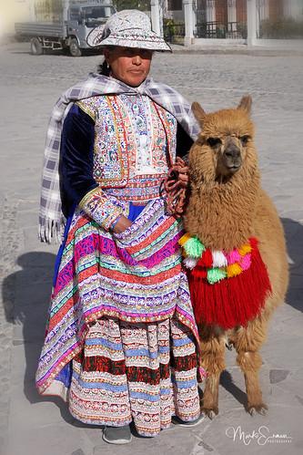 Woman with a lama II