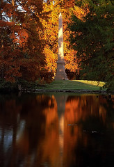 "Cincinnati - Spring Grove Cemetery & Arboretum ""Evening Light On Obelisk"""
