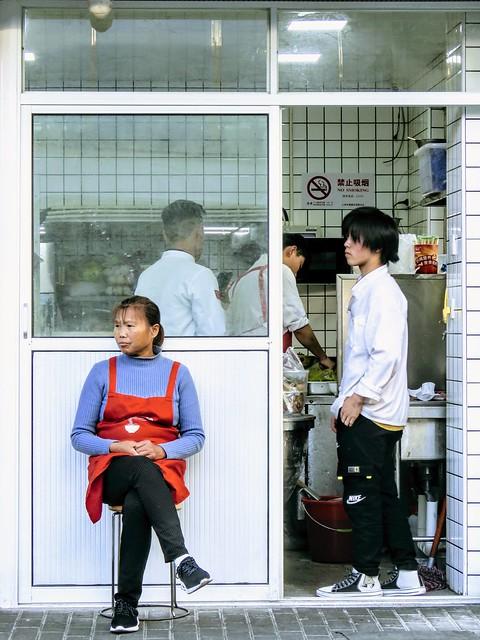 Back kitchen of a noodle house, #Shanghai