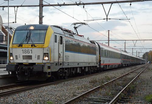 HLE 1861 + 13472 (Aachen Hbf - Welkenraedt), test run ÖBB Nightjet, Welkenraedt, 19/11/2019
