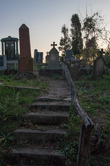 Steps to an old graveyard