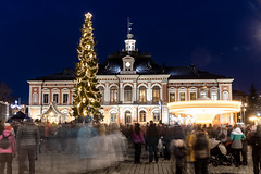 Christmas tree in Kuopio market place