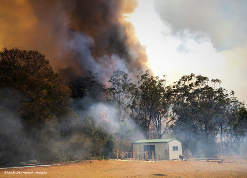 12.46pm 13th November 2019 - The Fire Front Arrives - Timbertops Estate, Darawank, NSW