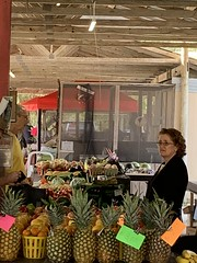 At the farmers market.
