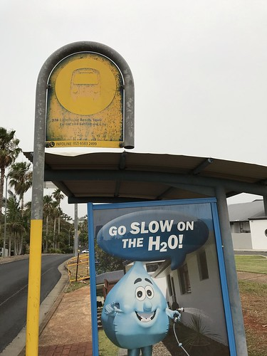 Bus stop at Lighthouse Plaza, Port Macquarie
